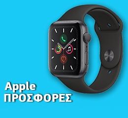 Apple Watch Series 5 GPS, 44mm Space Grey Aluminium Case με Black Sport Band