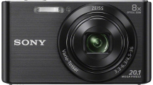 Φωτογραφική Μηχανή Sony DSCW830B Μαύρη