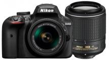 Φωτογραφική Μηχανή Nikon D3400 Double Special Kit AF-P 18-55 MM VR & 55-200 MM VR II