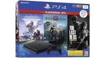 Sony PS4 1TB F Chassis + God of War + Horizon Zero Dawn + The Last of Us Black