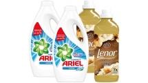 Σετ Απορρυπαντικών Ariel liquid Apline & Lenor Gold Orchid