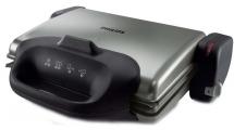 Τοστιέρα - Γκριλιέρα Philips HD4467/90 Ασημί/Μαύρο