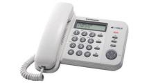 Ενσύρματο Τηλέφωνο Panasonic KX-TS560EX2W Λευκό