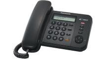 Ενσύρματο Τηλέφωνο Panasonic KX-TS580EX2B Μαύρο