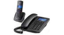 Ασύρματο/Ενσύρματο Τηλέφωνο Motorola C4201 Combo Black