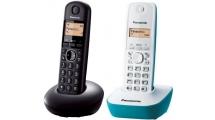 Ασύρματο Τηλέφωνο Panasonic KX-TGB210GRB Black & KX-TG1611GRC Blue