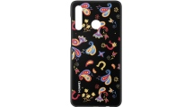 Θήκη Huawei P30 Lite TPU Colorful Flower Black