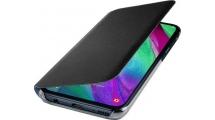 Θήκη Samsung Galaxy A40 Flip Wallet Cover Black