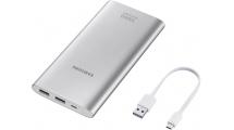 Power Bank Samsung 10000mAh Fast External Battery Micro USB Silver