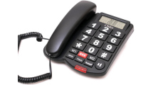 Ενσύρματο Τηλέφωνο Osio OSWB-4760B Μαύρο