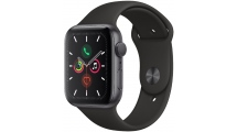 Apple Watch Series 5 GPS, 44mm Space Grey Aluminium Case με Black Sport Band