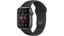 Apple Watch Series 5 GPS, 40mm Space Grey Aluminium Case με Black Sport Band