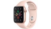 Apple Watch Series 5 GPS, 44mm Gold Aluminium Case με Pink Sand Sport Band