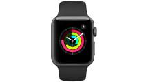 Apple Watch Series 3 GPS, 38mm Space Grey Aluminium Case με Black Sport Band