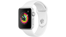 Apple Watch Series 3 GPS, 42mm Silver Aluminium Case με White Sport Band