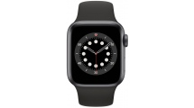 Apple Watch Series 6 GPS 44mm Space Gray - Black Sport Band
