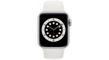 Apple Watch Series 6 GPS 44mm Silver - White Sport Band