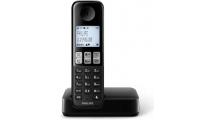 Ασύρματο Τηλέφωνο Philips D2501B/GRS Black