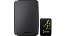 Εξωτερικός Σκληρός Δίσκος Toshiba Canvio Basics 1TB 2.5'' USB3.0 Black & Δώρο Battarix
