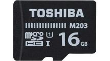 Κάρτα Μνήμης Toshiba microSDHC 16GB M203 Class 10 With Adapter