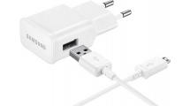 Φορτιστής Ταξιδιού Samsung Travel Fast Charger Micro USB 2A White