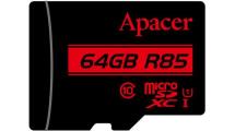 Κάρτα Μνήμης Apacer microSDXC 64GB R85 UHS-I U1