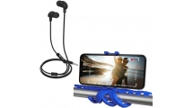 Ακουστικά Handsfree Celly Up 600 Black + Δωρο Squiddy Flexible Mini Tripod