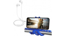 Ακουστικά Handsfree Celly Up 600 White + Δωρο Squiddy Flexible Mini Tripod