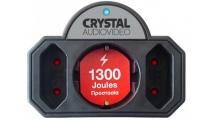 Πολύπριζο Ασφαλείας Crystal Audio CP21-1300-70 3 Θέσεων Μαύρο