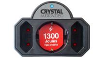 Πολύπριζο Ασφαλείας Crystal Audio SP21-1300-70 3 Θέσεων Μαύρο