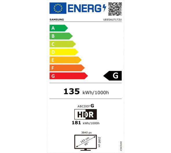 TV Samsung UE65AU7172 65'' Smart 4K