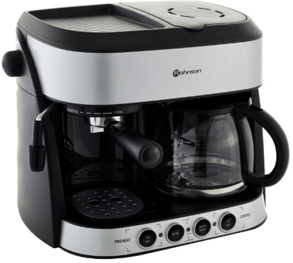 Πολυκαφετιέρα Rohnson R-970 Inox/Μαύρο