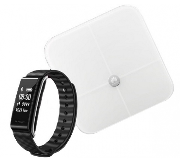 Activity Tracker Huawei Color Band A2 Black + Smart Body Fat Scale