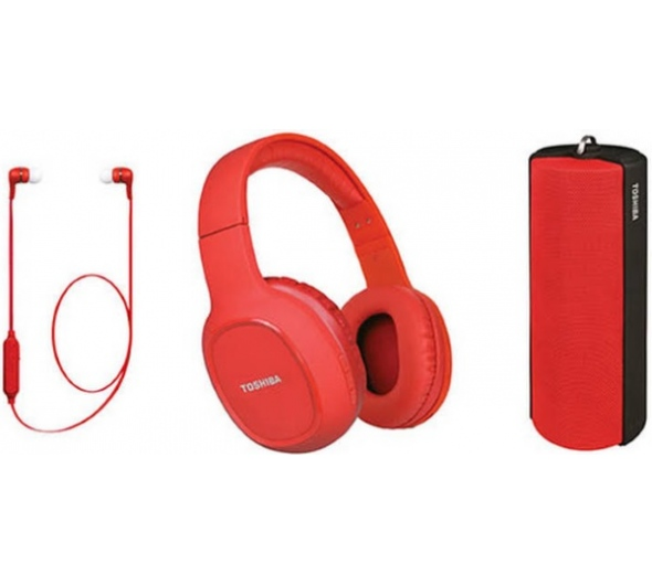 Bluetooth Toshiba Audio Wireless 3 In 1 Combo Pack HSP-3P19R Red